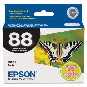 Epson Black Ink Cartridge - Black - Inkjet - 1 Each